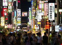 La vitta notturna di Tokyo