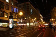 san francisco market street di notte