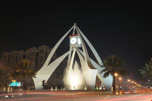 52814 dubai tower clock a dubai