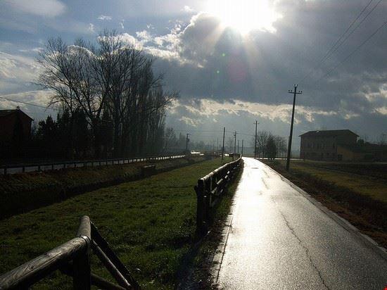 Pista ciclabile nei pressi di Modena