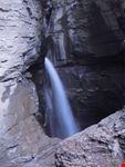 leukerbad cascata di acque termali