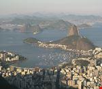 Veduta dall'alto della Baia di Guanabara