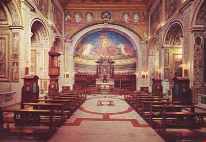 Foto Interno Della Basilica Dei Ss Cosma E Damiano A Roma