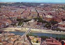 roma veduta aerea di castel s angelo