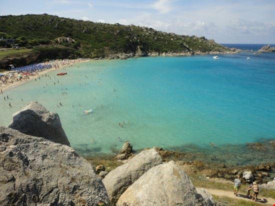 mare della spiaggia di rena bianca santa teresa di gallura