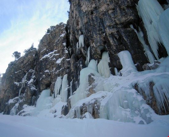Cascate di ghiaccio lungo la pista Armentarola