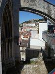 Scorcio di Lisbona dalla terrazza dell'elevador de Santa Justa