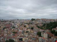 Lisbona dalla torre più alta del Castello de Sao Jorge