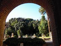 Il parco visto dal porticato