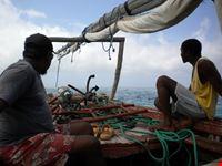 in navigazione verso l'atollo...