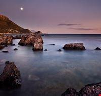 la spiaggia dopo il tramonto maratea