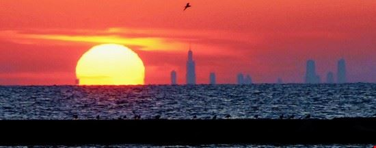 Photo Chicago Skyline In Michigan City Pictures And Images Of Michigan City 550x216 Autore Phil Eichas