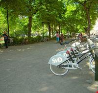 59003 stoccolma punto di raccolta delle stockholm city bikes ai lati del parco