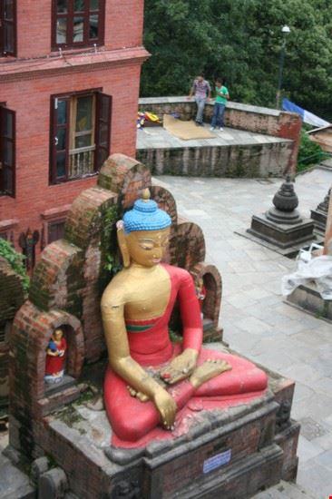 panorama dal tempio delle scimmie kathmandu