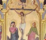 Crocefissione (particolare del polittico di Lambertini, sec. XV)