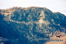 La strada sulla montagna
