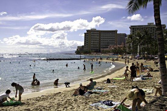 68002 honolulu spiaggia di waikiki