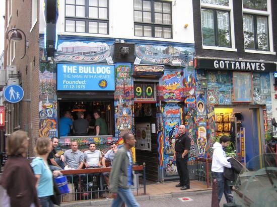 Coffeeshop bull dog in amsterdam bars in amsterdam for Bulldog hotel amsterdam