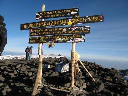The peak of mount Kilimanjaro
