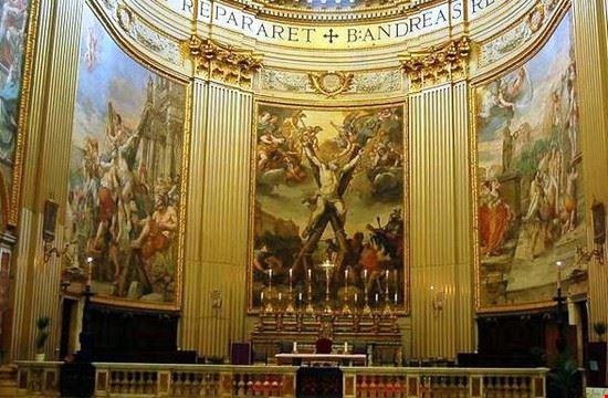 69998 roma abside con affreschi di domenichino