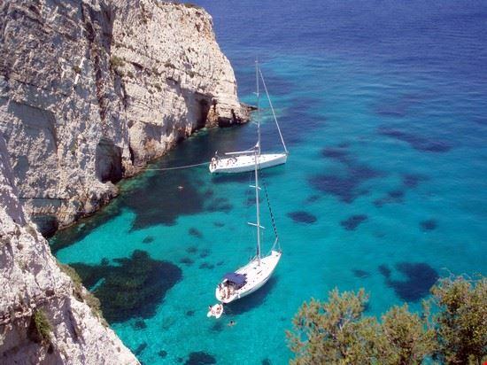 Zante in barca a vela