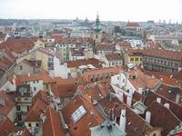 panorama dalla torre dell orologio praga