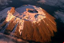 Kilimanjaro volcano crater