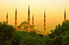 La Moschea Blu al tramonto