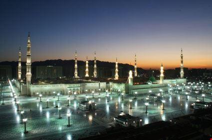 medina moschea di notte