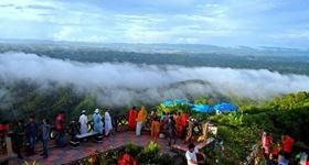 Tourist enjoying the scenic of Bandarban