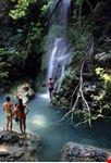 cascate a milopotamos sull'isola di kithira