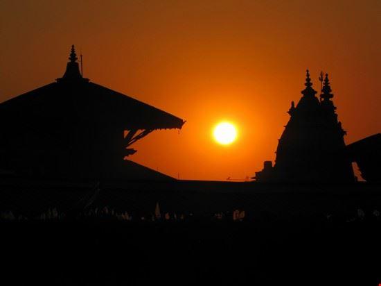 sunset in kathmandu kathmandu
