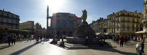 photo place de la comedie in montpellier pictures and images of montpellier 500x188 author. Black Bedroom Furniture Sets. Home Design Ideas