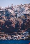 santorini panorama dell isola di santorini dal mare