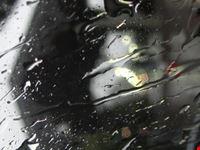 Il vecchi imbarcadero dai vetri dell'auto