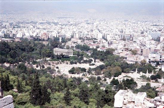 atene - la città dall'acropoli