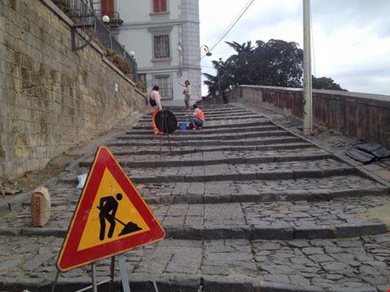 napoli scale lavori in corso