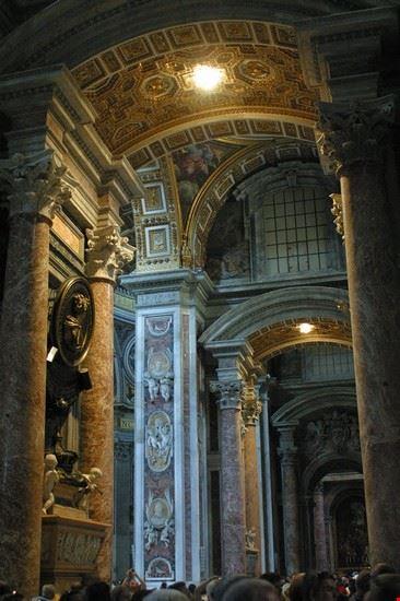 basilica di san pietro navata destra roma
