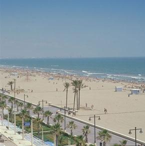 Playa de la malvarrosa en valencia valencia playas - Hoteles en la playa de la malvarrosa ...