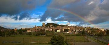 Panoramica del centro storico di Sarteano