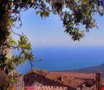 Panorama da un terrazzino di Pollina