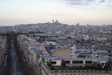 veduta dall arco di trionfo parigi