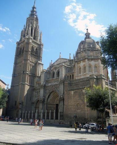 toledo - cattedrale, facciata principale