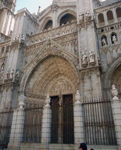 toledo - cattedrale, portale principale