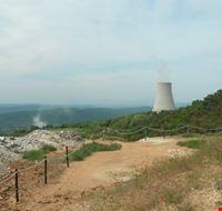 Le Biancane, la centrale geotermica ed il panorama