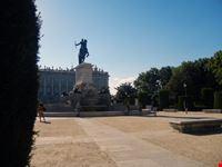 madrid madrid plaza de oriente statua di filippo iv