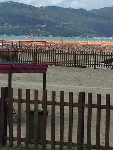 spiaggia quasi tutta concessionata