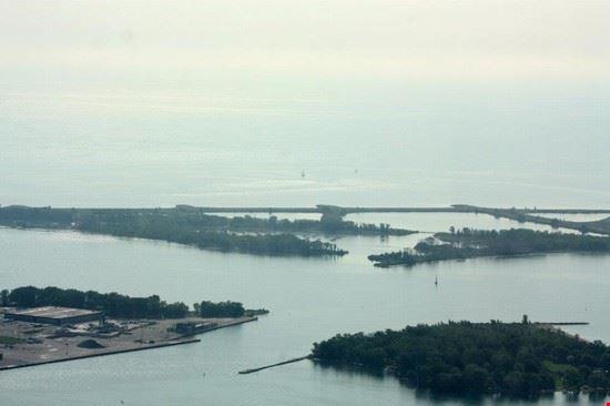toronto le toronto islands viste dalla cn tower
