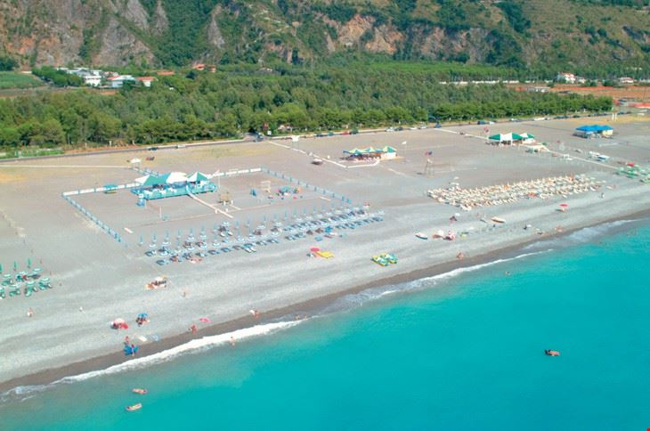 Panoramica della spiaggia