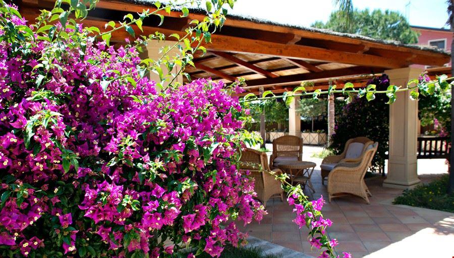 Bar con fiori